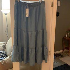 H&M Denim skirt size 14 Maxi